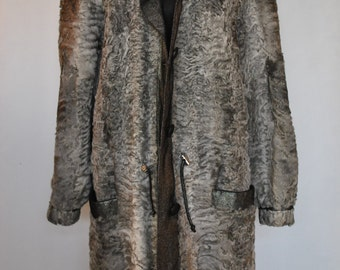 Vintage Lamb fur  Coat , full length fur coat, ASTRAKHAN fur coat ....(004)