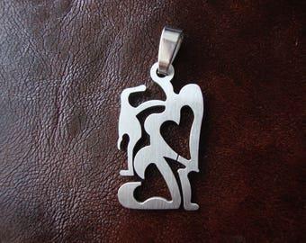 Heart pendant stainless Steel pendant Suede cord Mens choker 5 colors Hearts charms Metal Pendant Modernist Pendant Simple necklace choker
