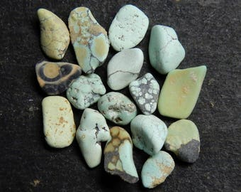 Amazing Quality Natural Turquoise Rough 16 Pieces Lot AAA++ Quality 5.75ct Loose Rough Stone Raw gemstone Untreated Rough TQ7