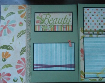 BEAUTIFUL Special Girl Woman 12x12 Scrapbook Pages Premade Set