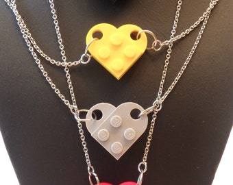Brick and plate pendant with chain