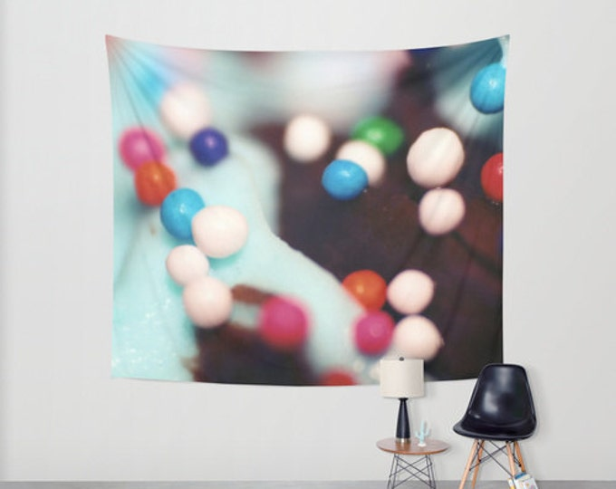 Cupcake Sprinkles - Hanging Tapestry - Wall Tapestry - Cupcake Sprinkles Photograph - Large Wall Photograph - Home Decor - Made to Order