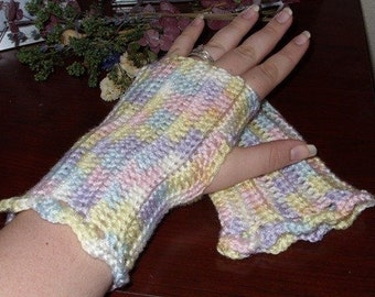 Pastel Fingerless Gloves - Pastel Arm Warmers - Pastel Wrist Warmers - Pastel Wristwarmers - Pastel Gauntlets - Pastel Gloves - Pastel Mitts