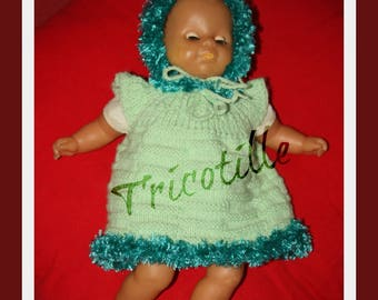 Dress and hat doll 33 cm