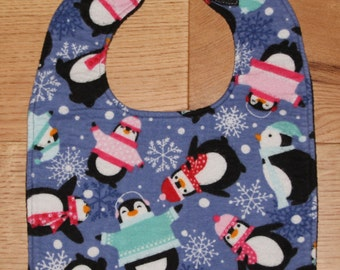 Christmas Penguins  Bib