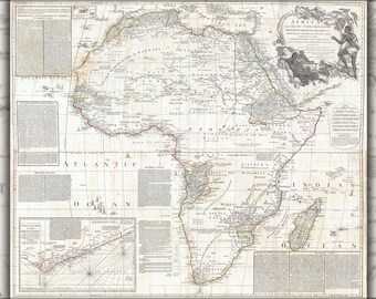 Poster, Many Sizes Available; 1794 Boulton And Anville Wall Map Of Africa (Most Important 18Th Cntry Map Of Africa)
