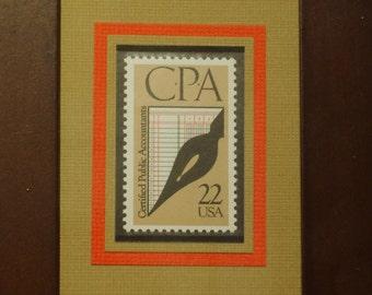 Certified Public Accountants - Vintage Framed Postage Stamp - No. 2361, Version 2