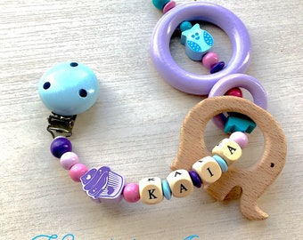 Clipped teether