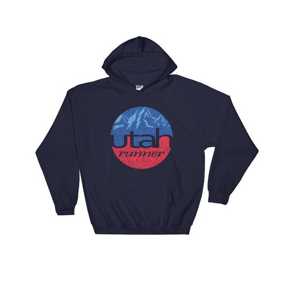 Utah Runner Hooded Sweatshirt - Unisex Hoodie - Run Utah - Heavy Hoodie Sweatshirt