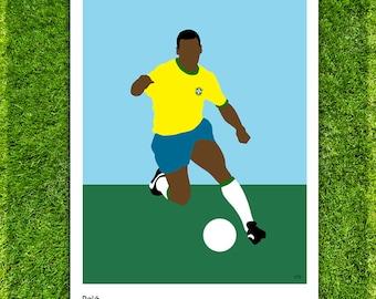 Pelé // Brazil // Football // Soccer // Minimalist Poster // Unique Art Print