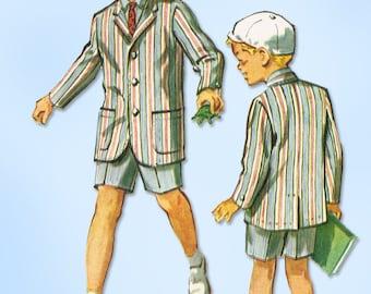 1950s Vintage McCall's Sewing Pattern 4502 Little Boys Shorts & Blazer Suit Sz 8