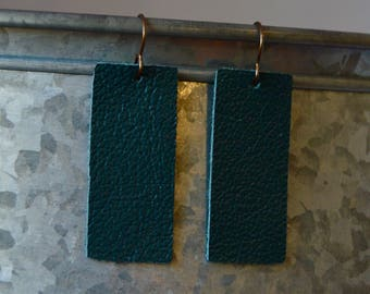 Turquoise rectangle earring