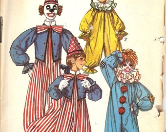 Simplicity 9051  Clown Costumes for Boys and Girls ID381