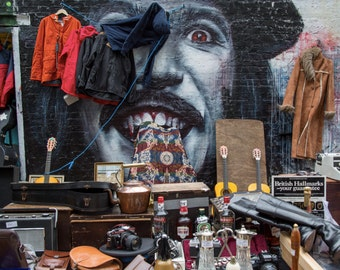 London Street Art Photography in Sclater Street Market 2 - Shoreditch - Photography Print