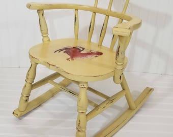 SOLD - Vintage Child Rocking Chair