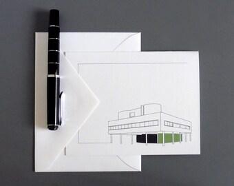 Modern Architecture Le Corbusier Villa Savoye Architecture Cards