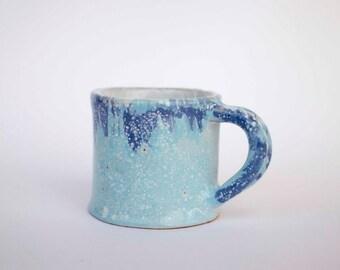 Handmade glazed ceramic mug, mug for tea, blue  mug, Stoneware mug, pottery mug, ceramics and pottery, coffee mug, tea cup, gift, dinning