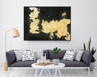 Westeros Map, Game Of Thrones, Gift For Mom, Gift For Him, Gift For Her, Gift For Boyfriend, Gift For Girlfriend, Game Of Thrones Map