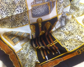 Sale: save 30,-eu!!!Design-scarf, silk, leo-print, bags-print