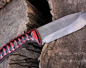 Handmade FOF Bullnose Survivor or hunting survival knife