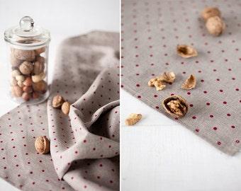Linen tablecloth - polka dot tablecloth - Linen table top - Gray tablecloth - Linen table cloth - Mothers day gift - Housewarming gift