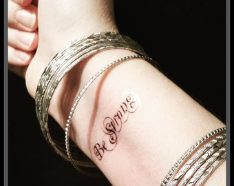 quote tattoo temporary quote tattoo be strong fake tattoo inspirational quote tattoo