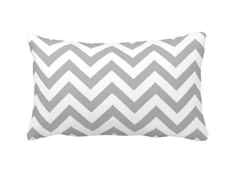 Lumbar Pillow Cover Decorative Throw Pillow Grey Chevron Pillow Cover Grey Pillow Gray Pillow Geometric Pillow Chevron Decor Grey Cushions