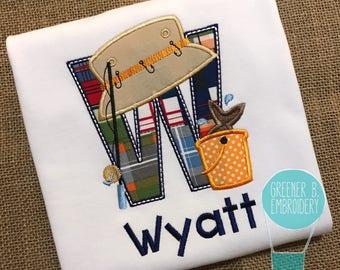 Boy's Fishing Shirt / Fishing Applique / Toddler Fishing / Personalized Fishing Shirt / Fishing Birthday / Birthday Fishing / Fishing Pole