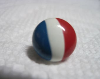 VINTAGE 1950's Red White Blue Enameled PEPSI LOOK Button...#150