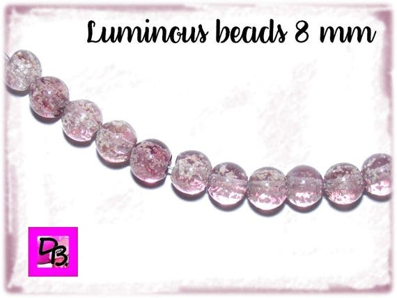 10 perles Luminous 8mm