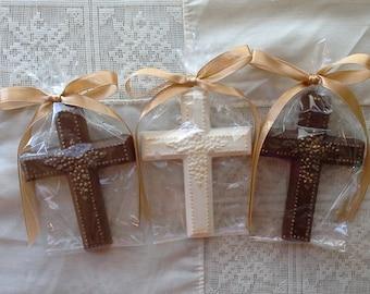 Chocolate Cross Favors confirmation baptism communion