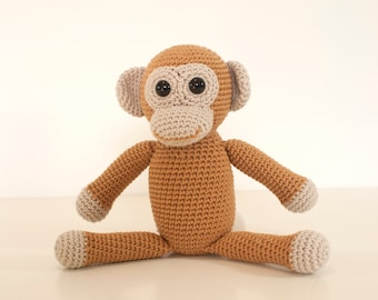 Amigurumi Monkey Pattern Free : Amigurumi crochet monkey pattern johnny the monkey softie