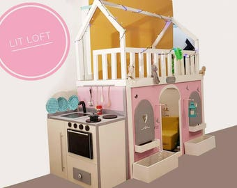 DOUBLE Loft bed with kitchen
