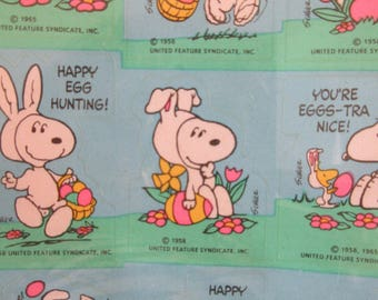 Vintage Stickers, Snoopy Stickers, Easter Snoopy, Snoopy and Woodstock, Vintage Hallmark Stickers, Peanuts Easter Stickers, New Old Stock