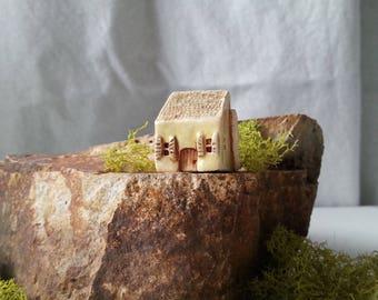 Miniature house Tiny ceramic house Home decor Mini clay house Little house Rustic house Shelf village Tiny house Housewarming gift Ceramics