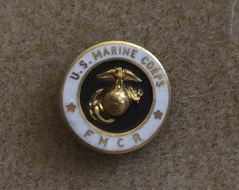 Vintage USMC, FMCR Pin, Miltary Lapel Pin, United States Marine Corp,