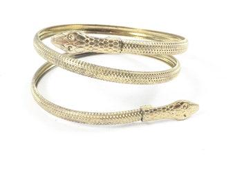 Snake Bracelet Gold Snake Bracelet Vintage Snake Bracelet Snake Cuff Bracelet Snake Wrap Bracelet Vintage Jewelry Gypsy Jewelry Vintage Gift