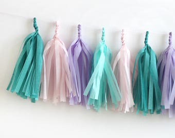 Mermaid Tissue Tassel Garland Kit -