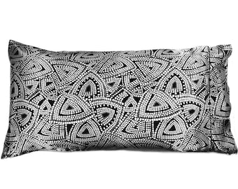 Satin Pillowcase King Size. Black and White. Get Healthy, Shinny Hair. Great for Dry Skin Problems Like Acne, Rosacea.