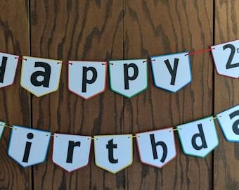 Sesame Street Happy Birthday Banner, Happy Birthday Banner, Sesame Street Party, Sesame Street Decor