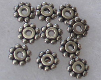 SALE 10p  6mm Sterling Rondelle Beads