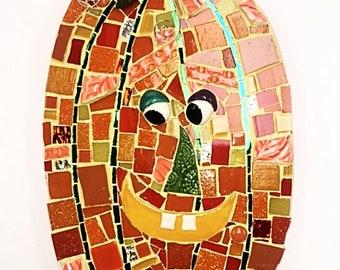 The Tall Happy Pumpkin Mosaic