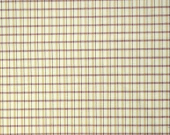 Fabric REMNANT 4.5 Yards Red Yellow Check