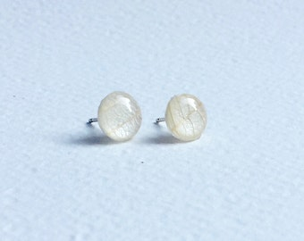 Skeleton Leaf and Paper Earring studs - Small