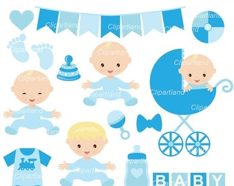 ON SALE INSTANT Download. Baby boy clip art. Cbb_2. Personal and commercial use.