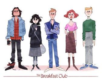 The Breakfast Club 8.5x11 Print