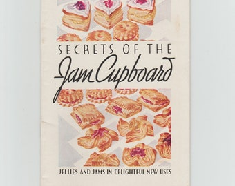 Secrets of the Jam Cupboard Recipes 1930 Vintage Cookbook Booklet Certo General Foods Corp.
