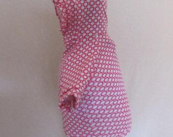 Pink Sun Ruffled Dog hoodie, refashioned