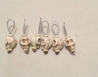 Natural Skull Stitch Markers