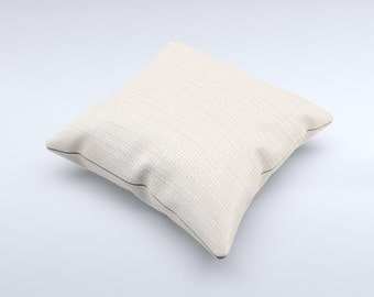 The Tan Woven Fabric Pattern ink-Fuzed Decorative Throw Pillow